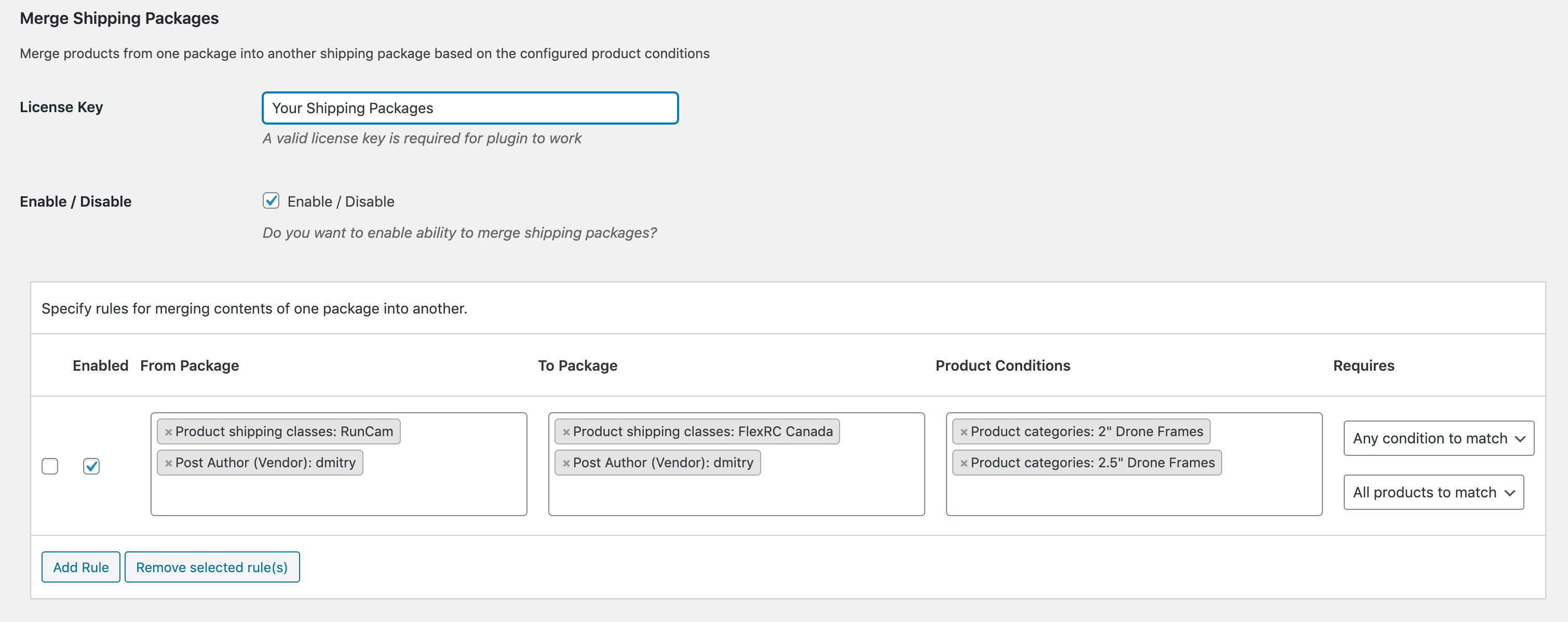 Merge Shipping Packages for WooCommerce
